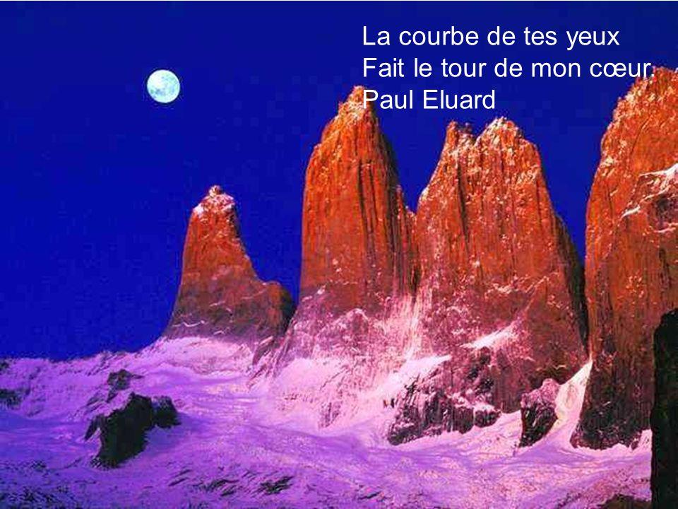 La courbe de tes yeux Fait le tour de mon cœur. Paul Eluard