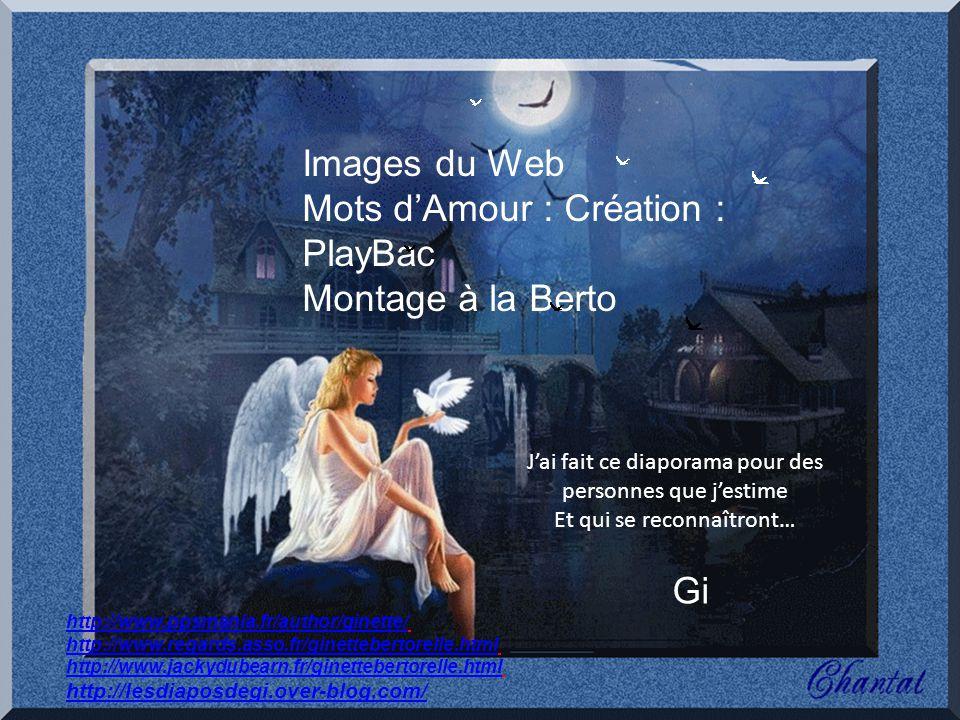 Mots d'Amour : Création : PlayBac Montage à la Berto