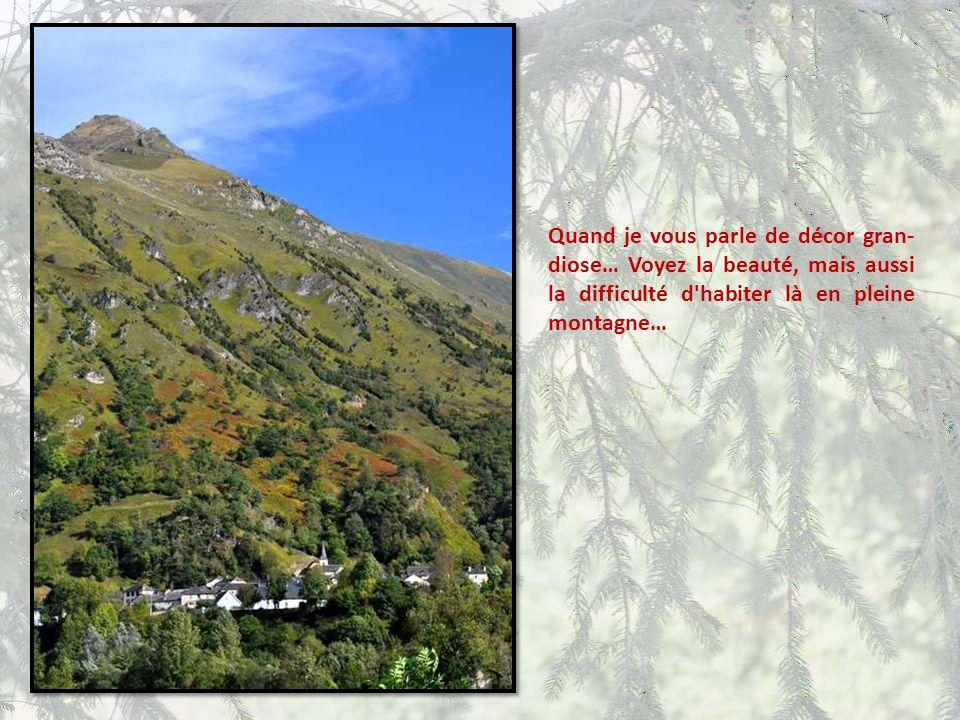 Quand je vous parle de décor gran-diose… Voyez la beauté, mais aussi la difficulté d habiter là en pleine montagne…