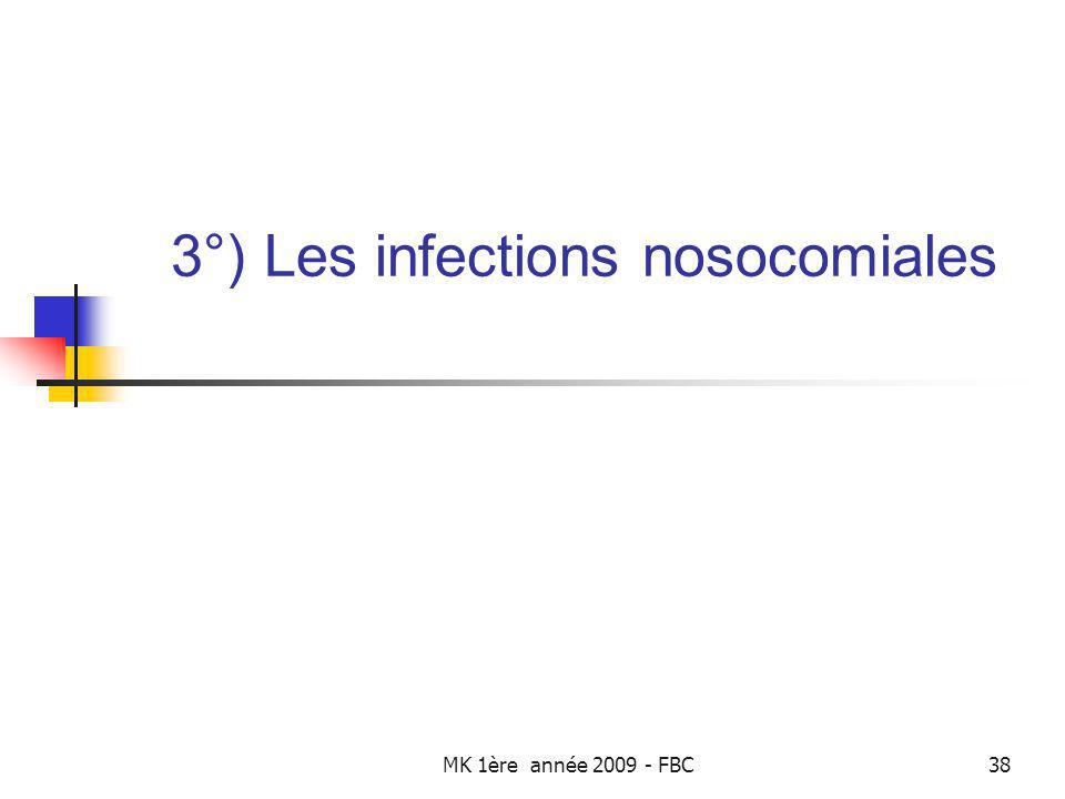 3°) Les infections nosocomiales