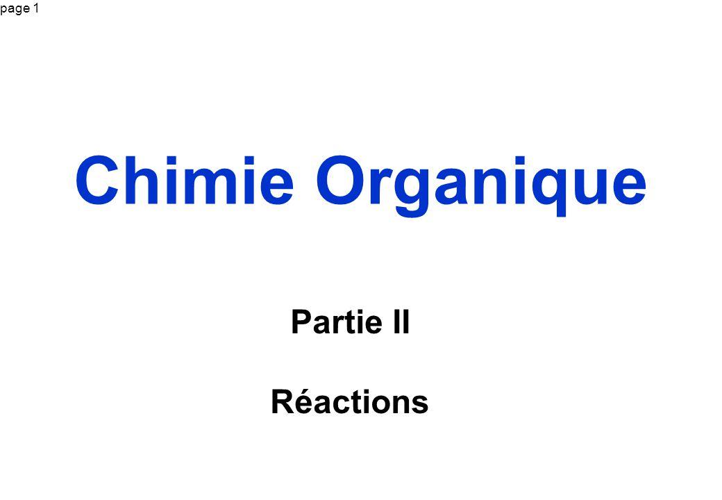 Chimie Organique Partie II Réactions