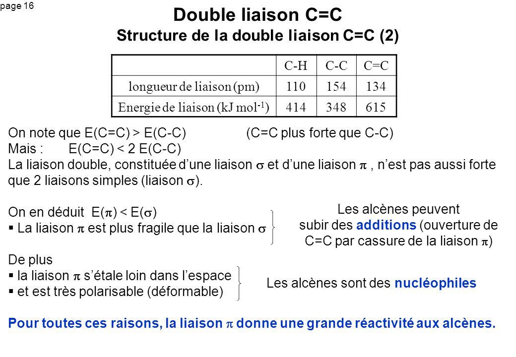 Double liaison C=C Structure de la double liaison C=C (2)