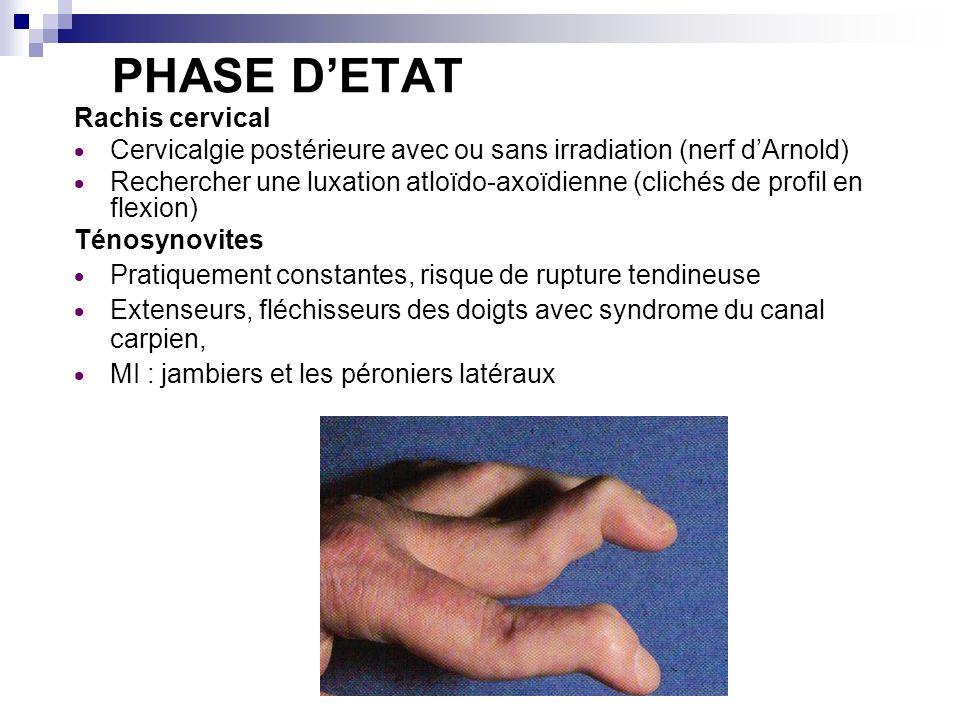 PHASE D'ETAT Rachis cervical