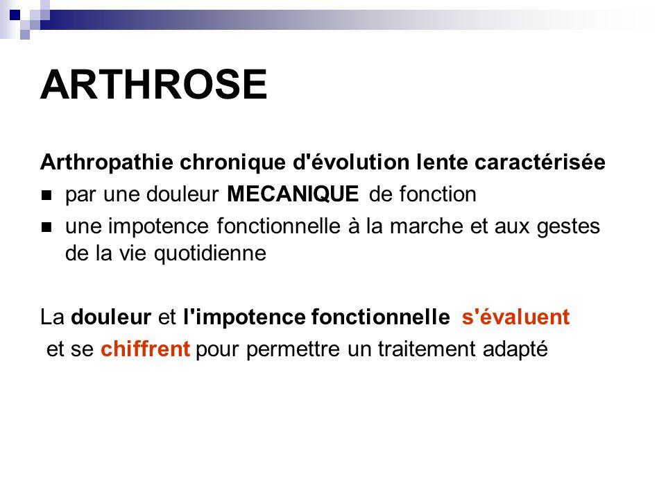 ARTHROSE Arthropathie chronique d évolution lente caractérisée