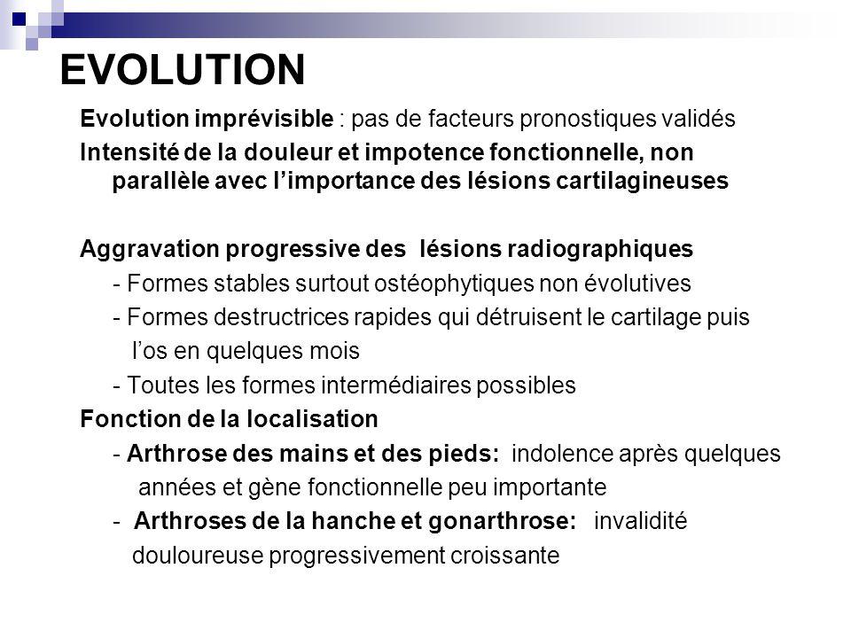 EVOLUTION Evolution imprévisible : pas de facteurs pronostiques validés.