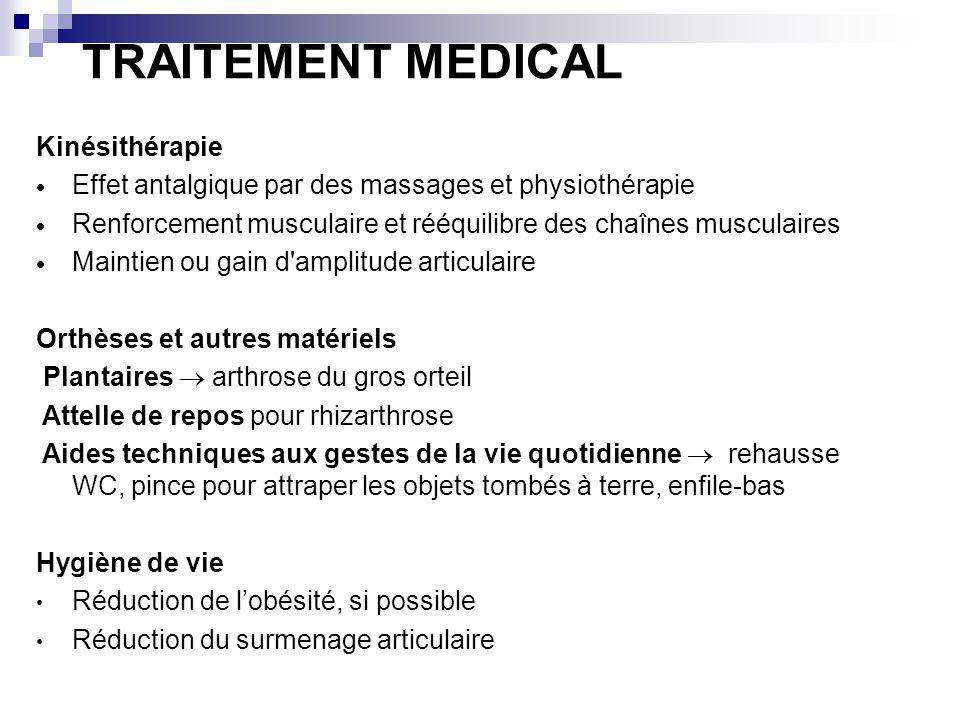 TRAITEMENT MEDICAL Kinésithérapie