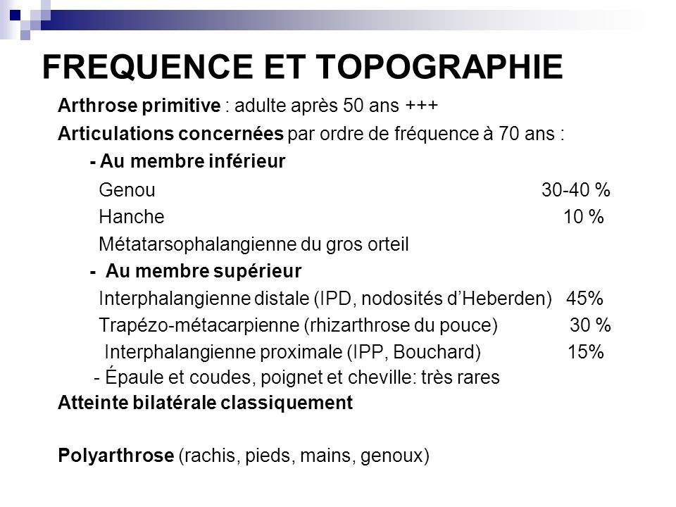 FREQUENCE ET TOPOGRAPHIE