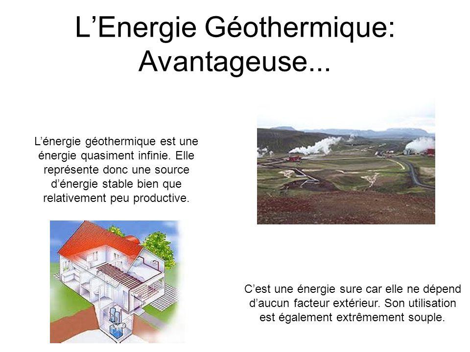 L'Energie Géothermique: Avantageuse...