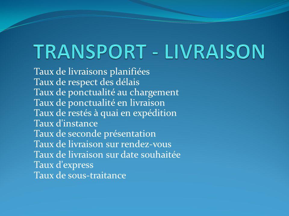 TRANSPORT - LIVRAISON