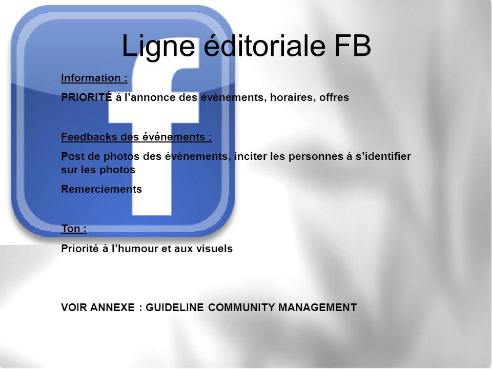 Ligne éditoriale FB Information :