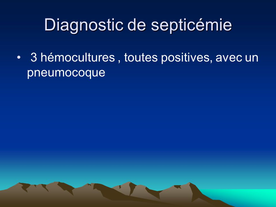 Diagnostic de septicémie