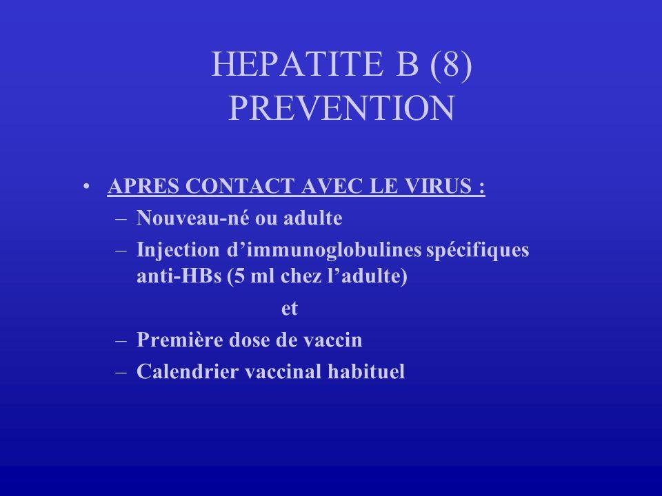 HEPATITE B (8) PREVENTION