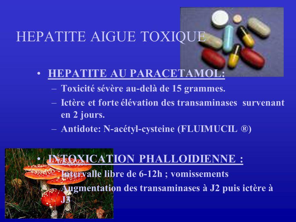 HEPATITE AIGUE TOXIQUE