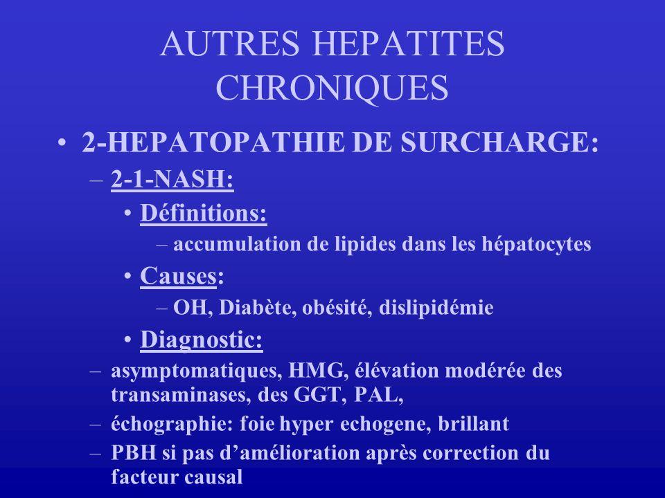 AUTRES HEPATITES CHRONIQUES