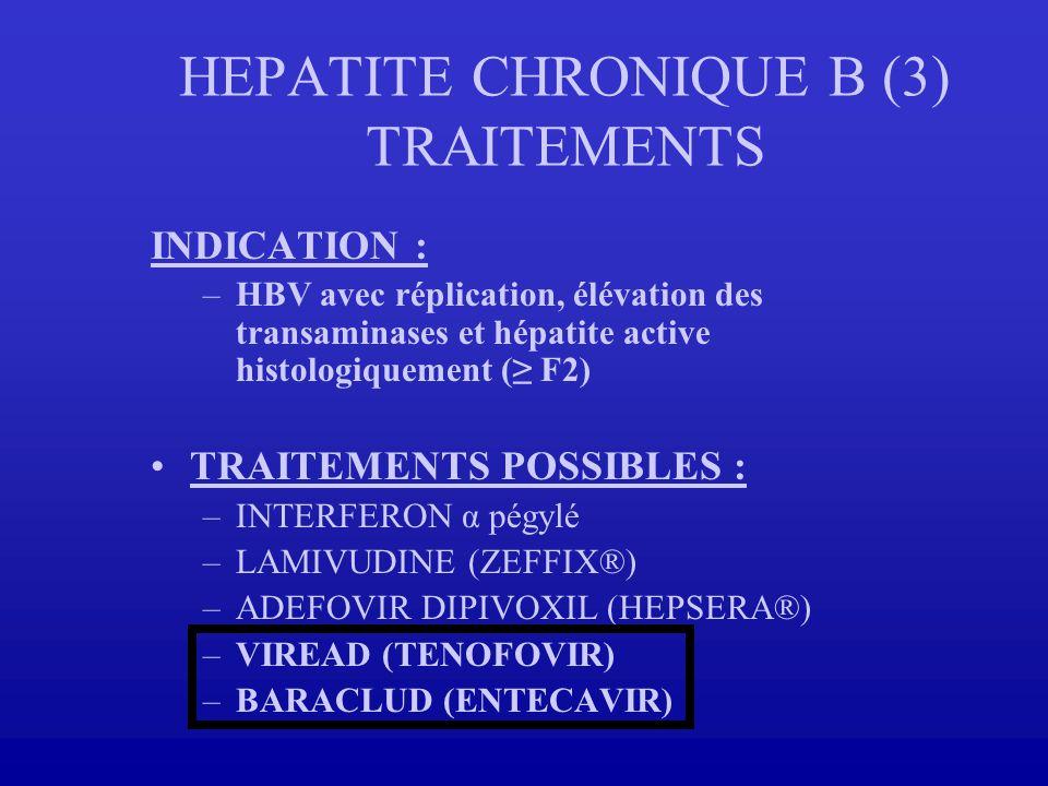 HEPATITE CHRONIQUE B (3) TRAITEMENTS