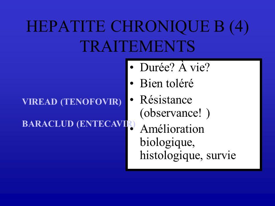 HEPATITE CHRONIQUE B (4) TRAITEMENTS