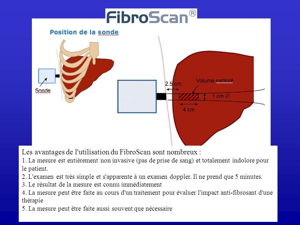 Les avantages de l utilisation du FibroScan sont nombreux : 1