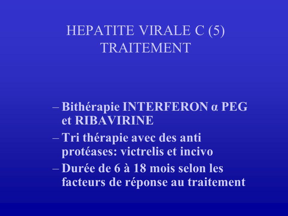 HEPATITE VIRALE C (5) TRAITEMENT