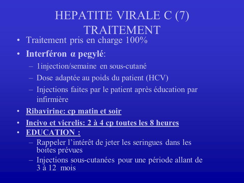 HEPATITE VIRALE C (7) TRAITEMENT