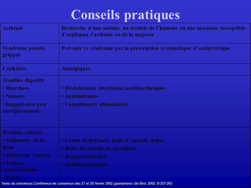 Conseils pratiques Asthénie