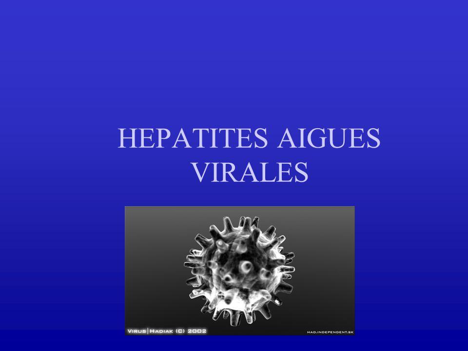 HEPATITES AIGUES VIRALES