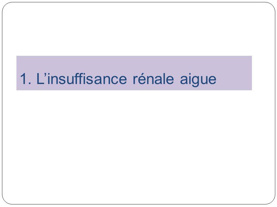 1. L'insuffisance rénale aigue