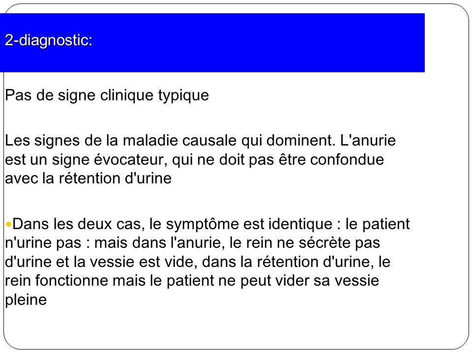 2-diagnostic: Pas de signe clinique typique.