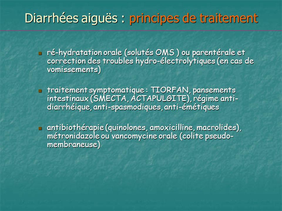 Diarrhées aiguës : principes de traitement