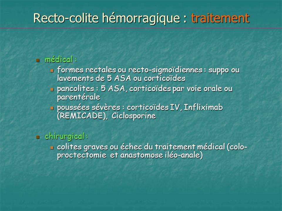 Recto-colite hémorragique : traitement