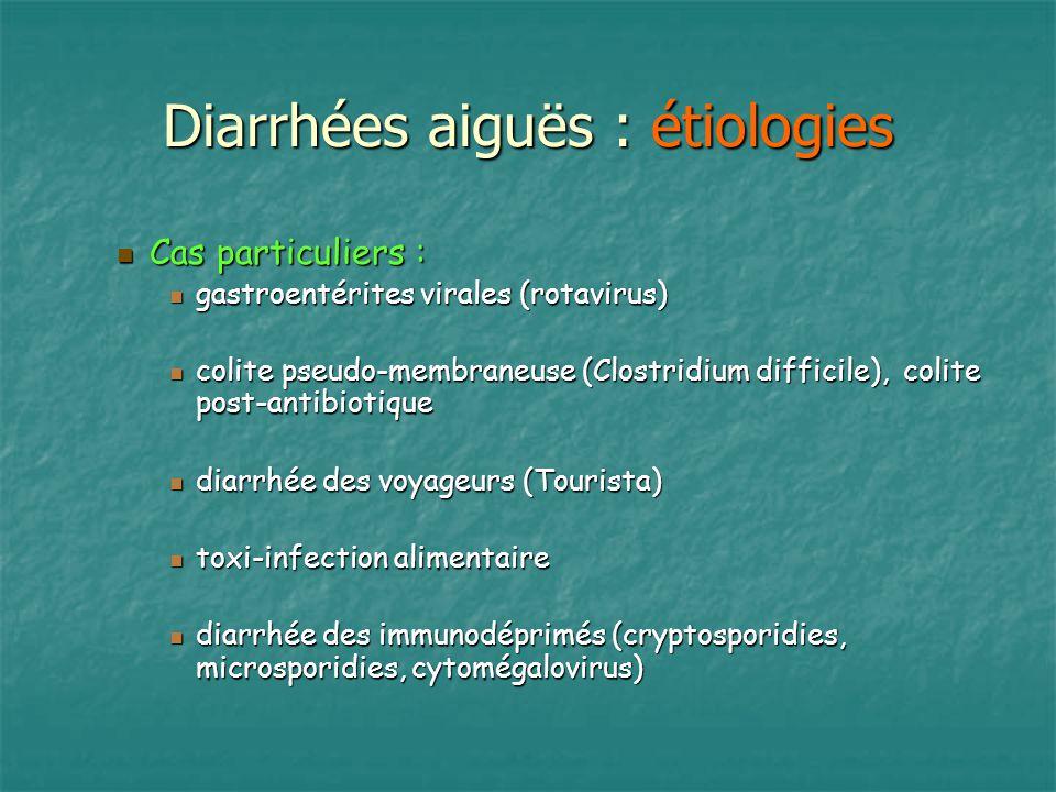 Diarrhées aiguës : étiologies