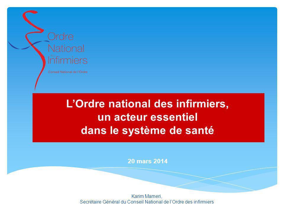 L'Ordre national des infirmiers, dans le système de santé