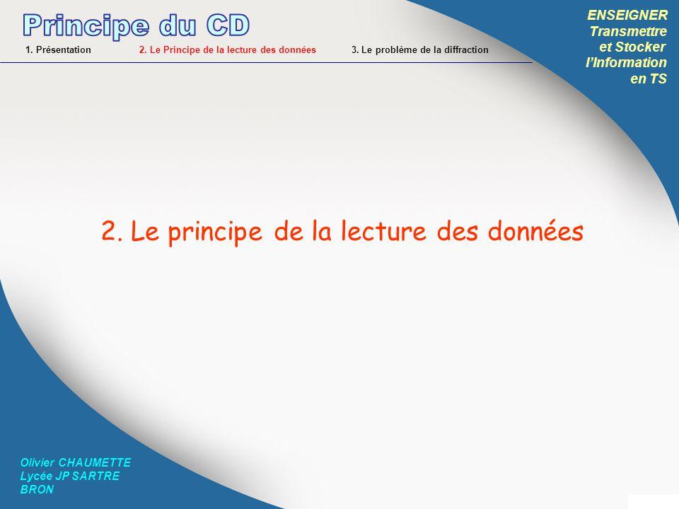 Principe du CD 2. Le principe de la lecture des données ENSEIGNER