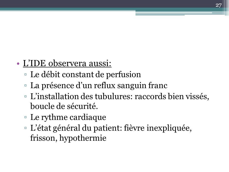 L'IDE observera aussi: