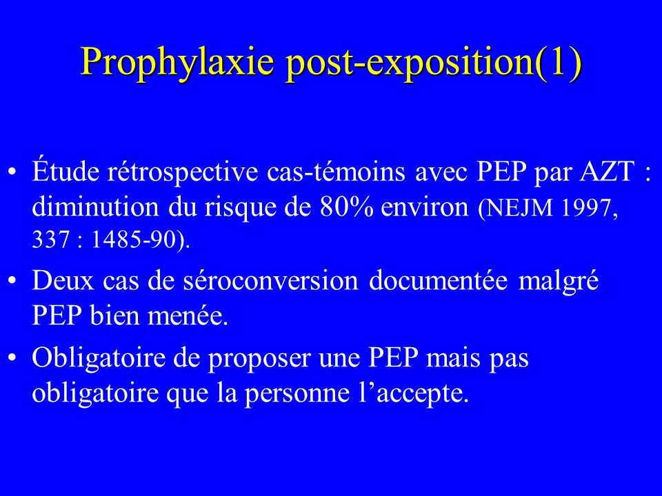 Prophylaxie post-exposition(1)