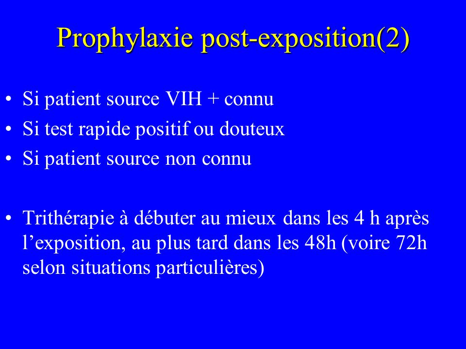 Prophylaxie post-exposition(2)