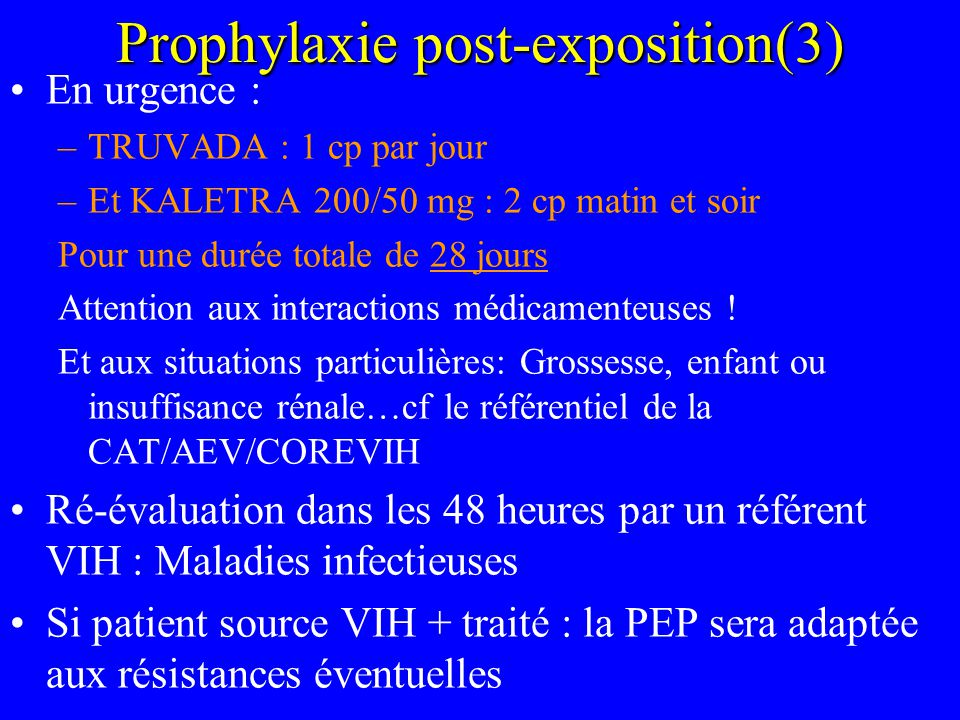 Prophylaxie post-exposition(3)
