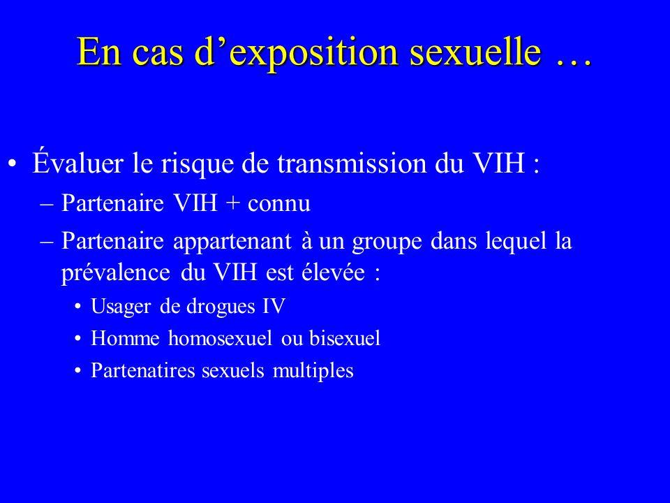 En cas d'exposition sexuelle …