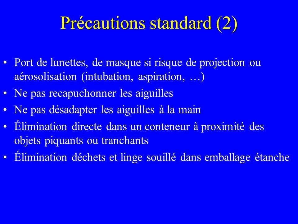 Précautions standard (2)