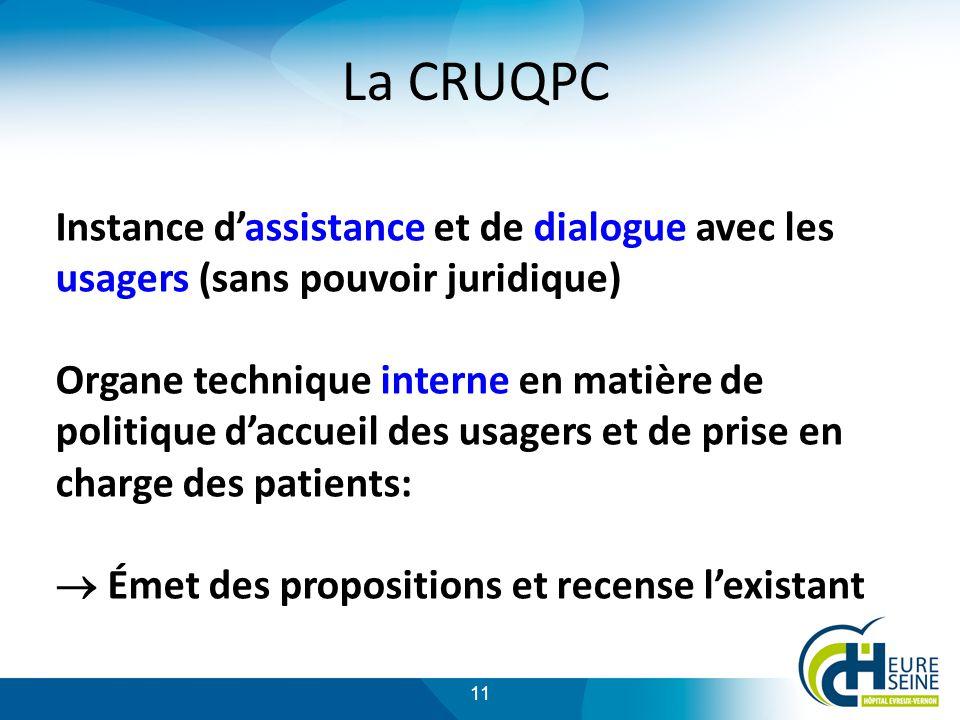 La CRUQPC Instance d'assistance et de dialogue avec les