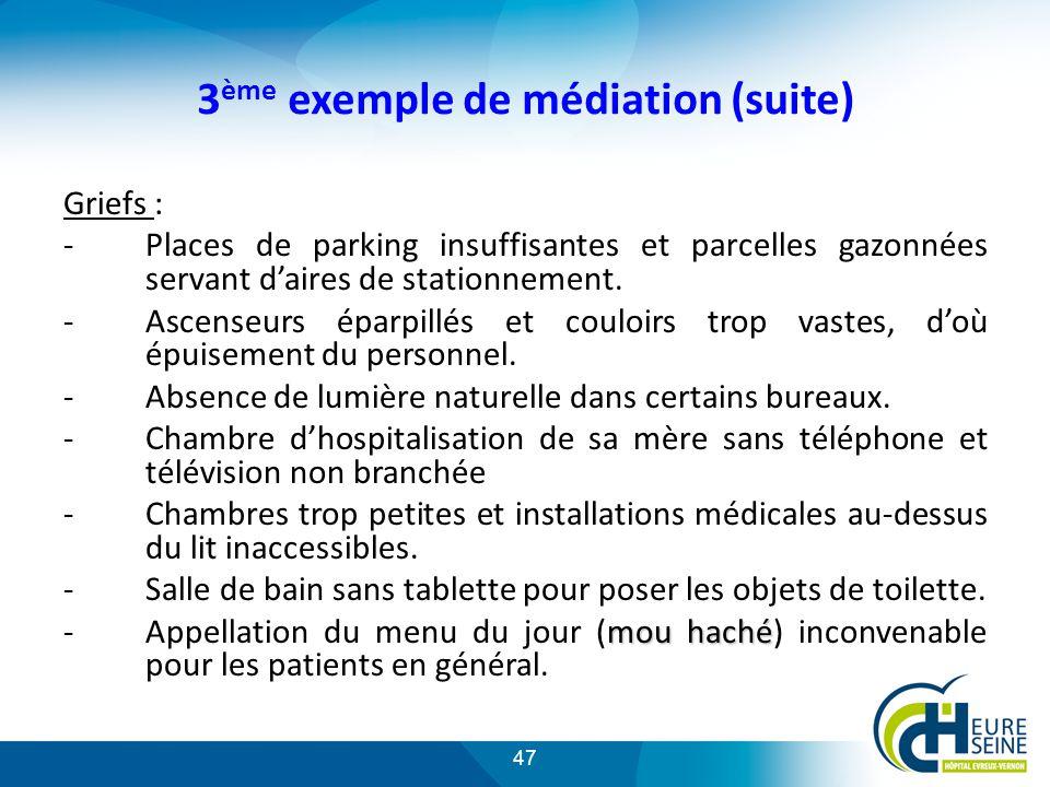 3ème exemple de médiation (suite)