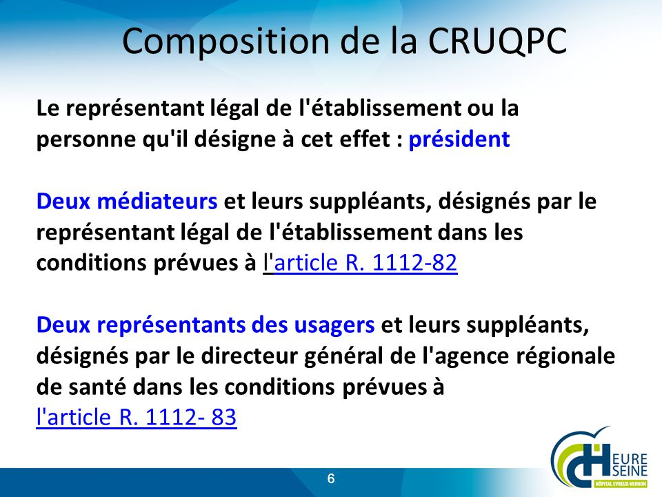 Composition de la CRUQPC