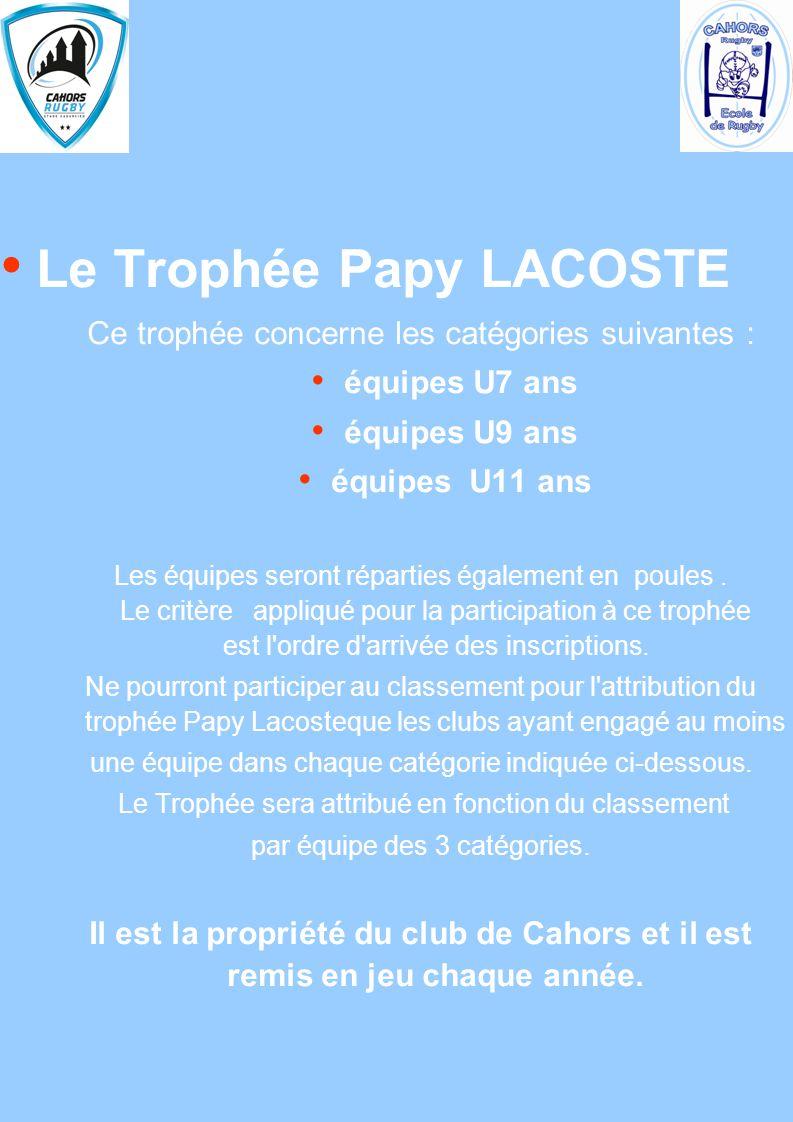 Le Trophée Papy LACOSTE