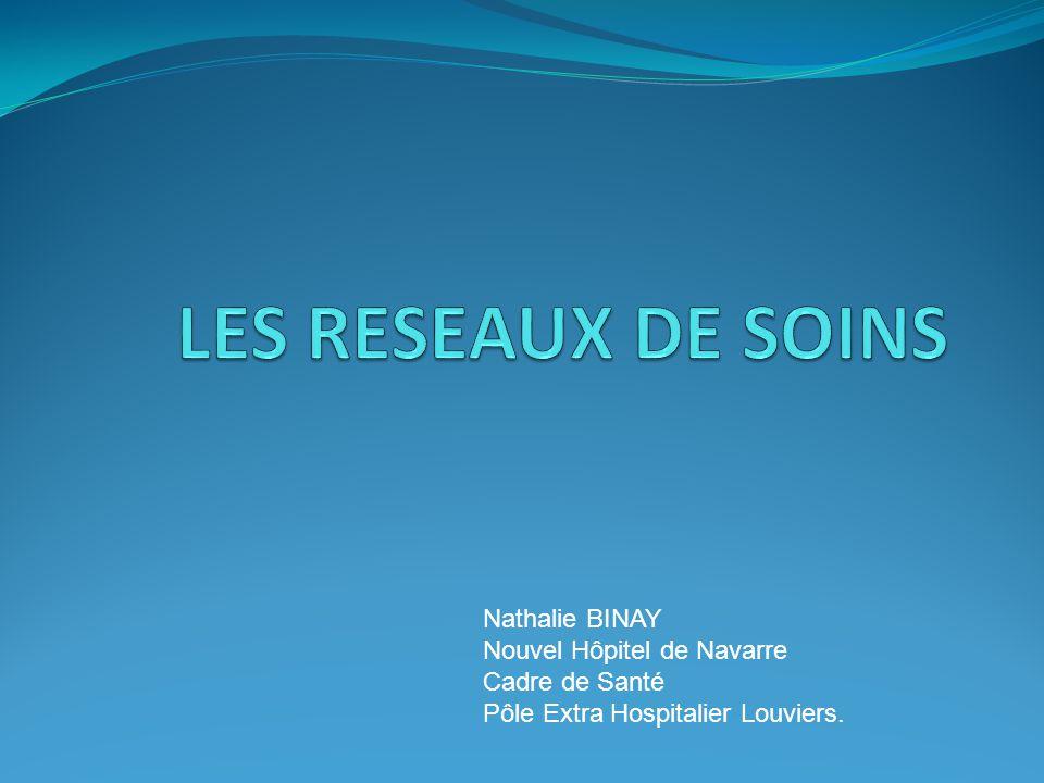 LES RESEAUX DE SOINS Nathalie BINAY Nouvel Hôpitel de Navarre