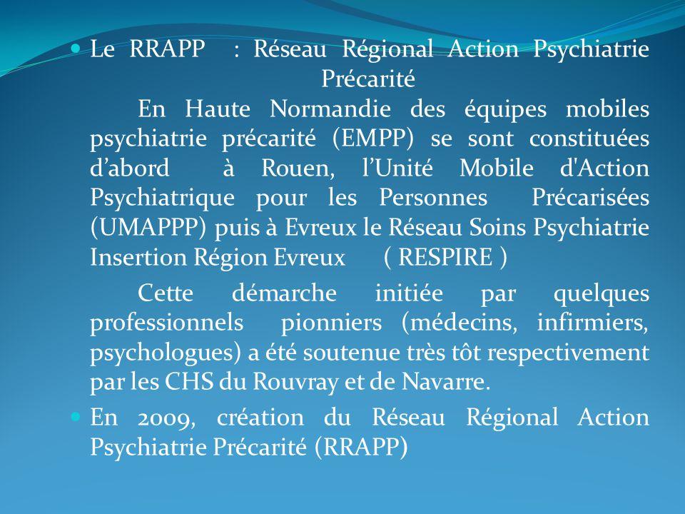 Le RRAPP : Réseau Régional Action Psychiatrie Précarité
