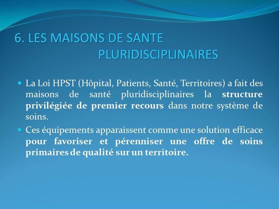 6. LES MAISONS DE SANTE PLURIDISCIPLINAIRES