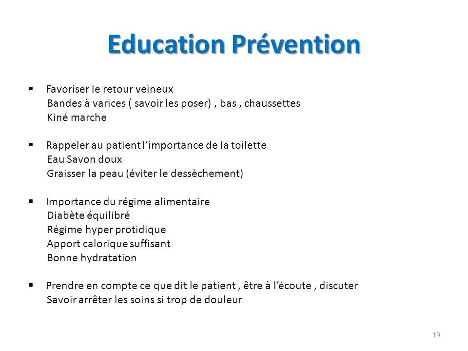 Education Prévention Favoriser le retour veineux