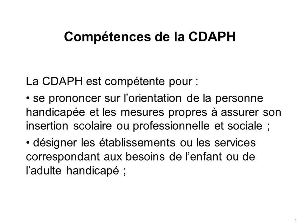 Compétences de la CDAPH