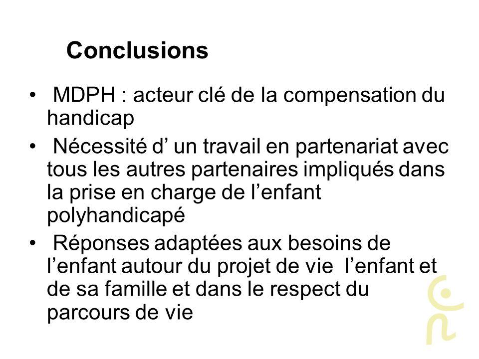 Conclusions MDPH : acteur clé de la compensation du handicap