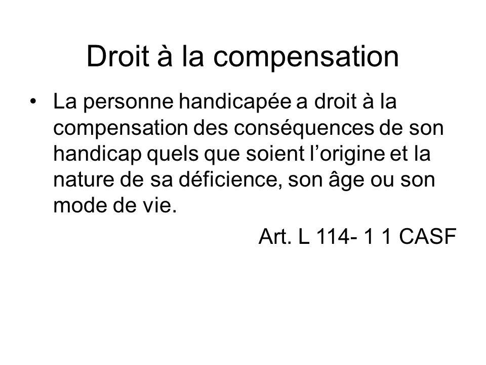 Droit à la compensation