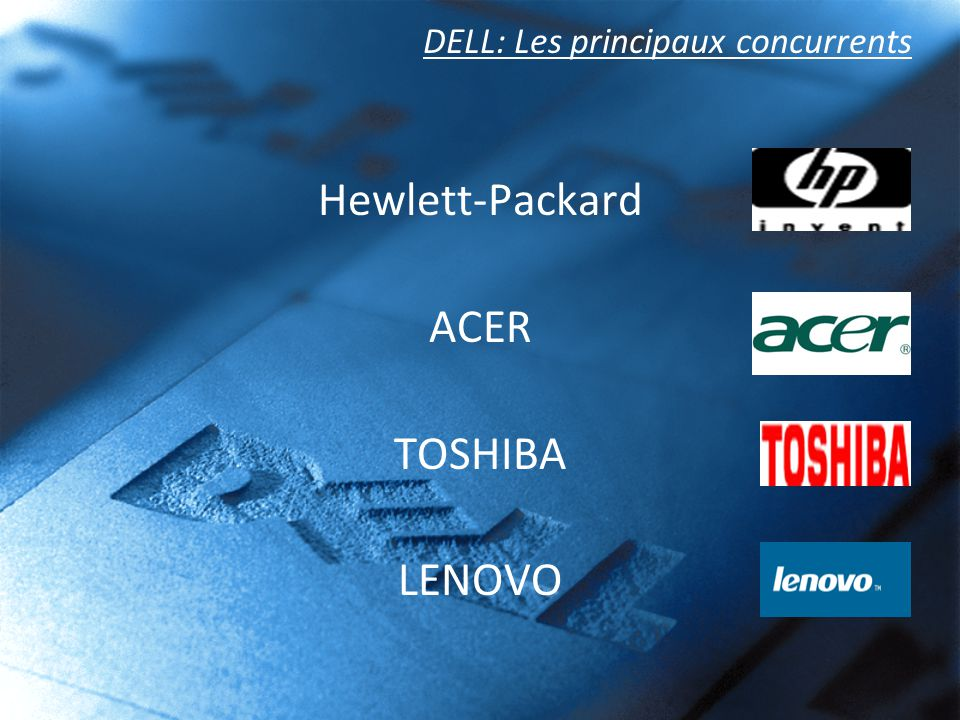 DELL: Les principaux concurrents